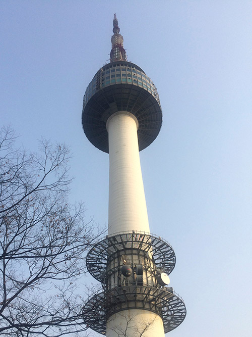 Seoul Tower photographed from its base platform