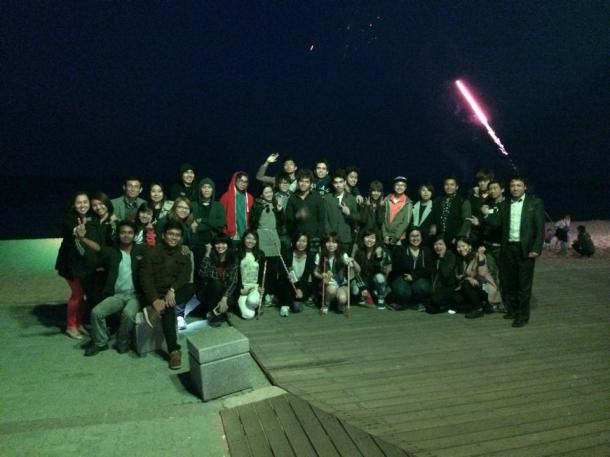 3 Sokcho beach group photo