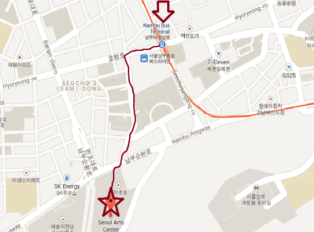 map of seoul art center 2