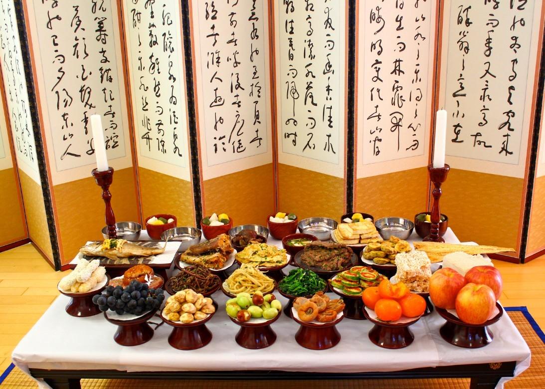 Korean Harvest Festival Foods