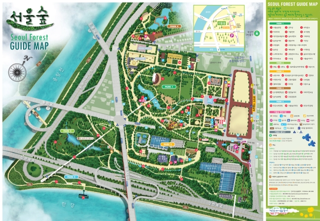 Image result for seoul forest map