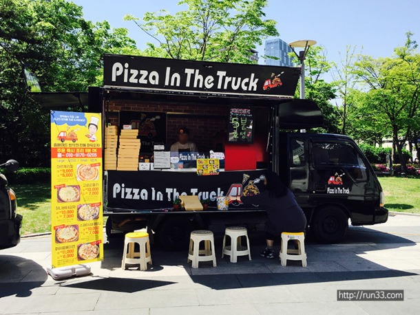 pizza in the truck